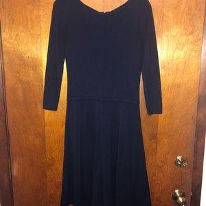 Talbots Navy Blue 3/4 length sleeved Dress